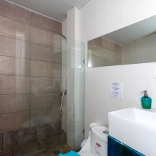 Your clean and super fresh bathroom with a shower. Fresh towels and basic essentials are included.
