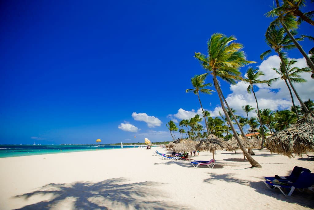 Punta Cana is the paradisiacal east coast of the Dominican Republic, famous for its 50 kilometers of dream beaches, tall coconut palm trees and magnificent ocean.