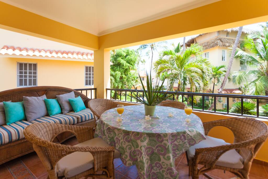 A very charming terrace overlooking the area with much greenery for your perfect pasttime