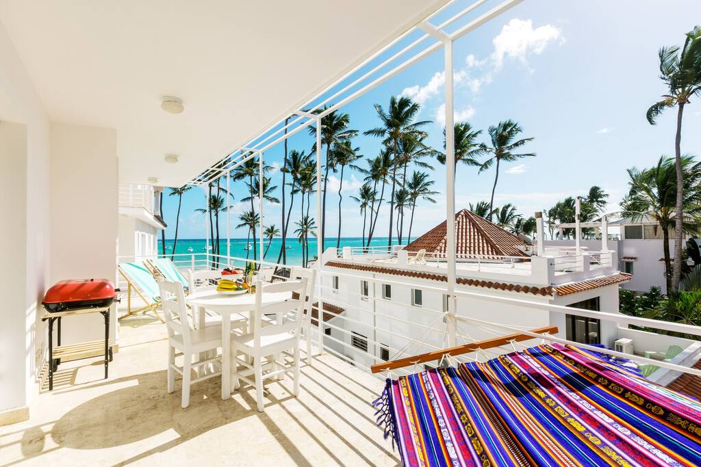 Ocean View Condo Albiona with Balcony & BBQ - Everything Punta Cana