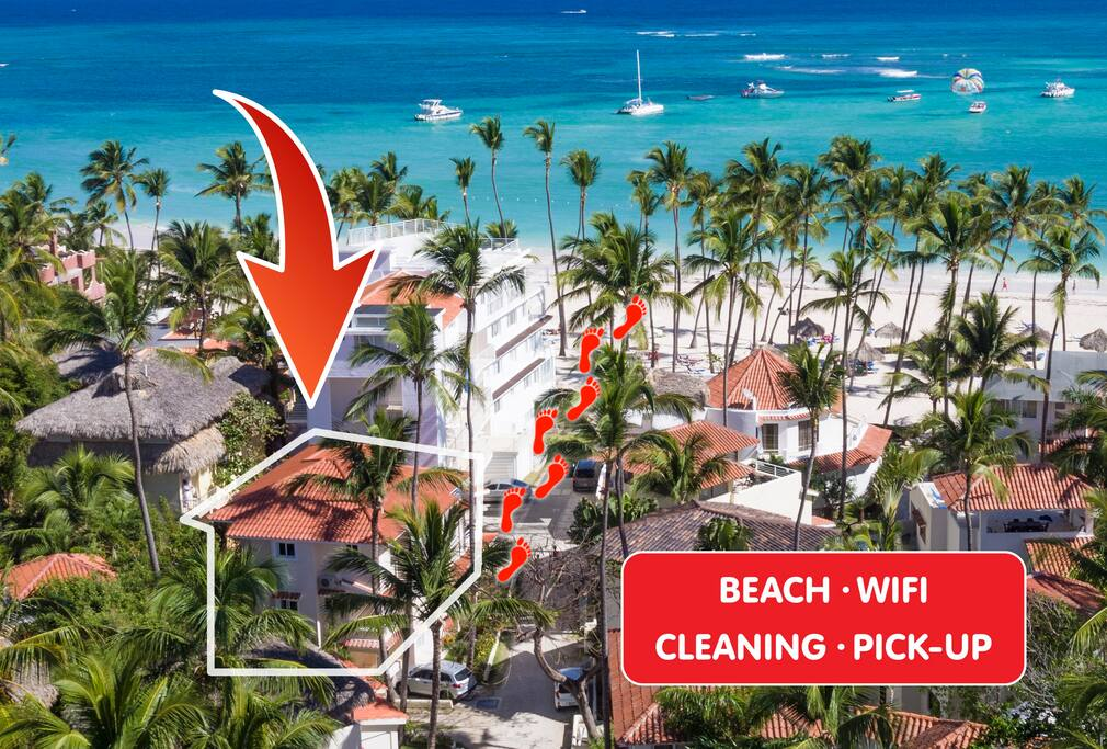 Ocean View Villa Noemy on the Beach 2br - Everything Punta Cana