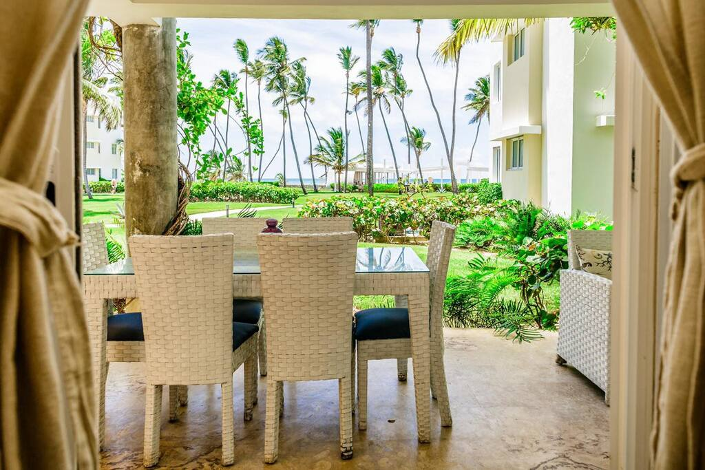 Enjoy a wonderful tropical view from your private terrace.