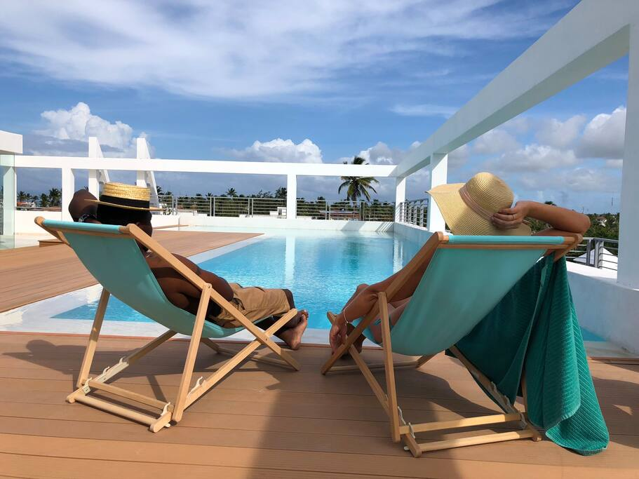 Deluxe Studio Rooftop Pool Beach Club - Everything Punta Cana