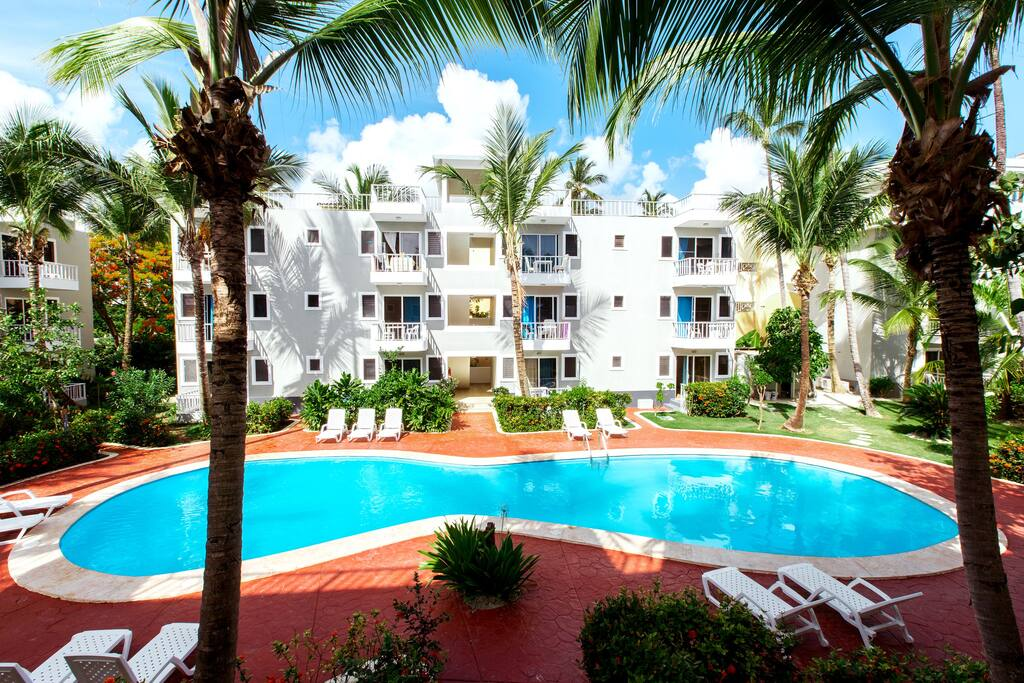 Deluxe Pool View Studio for 3 people with WiFI - Everything Punta Cana