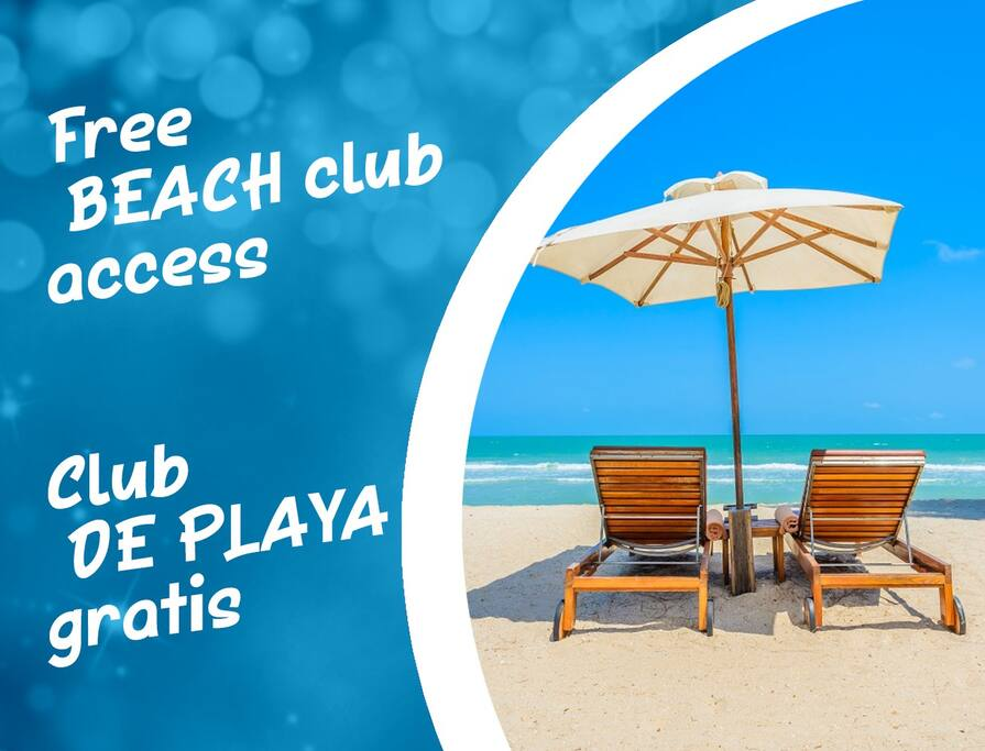 You recieve a card for beach club Soles, this card gives you discount for food/beverages. In case of purchases you can use umbrellas and loungers for free. If you do not want to buy anything then i can give you for free my umbrellas and beach chairs.