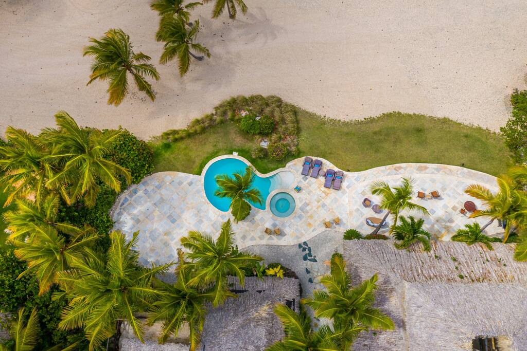 Birdview at the swimming pool