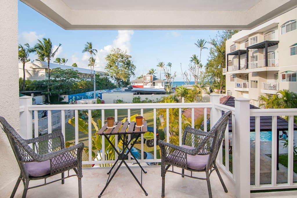 Modern 2 BR Ocean View Condo - Everything Punta Cana