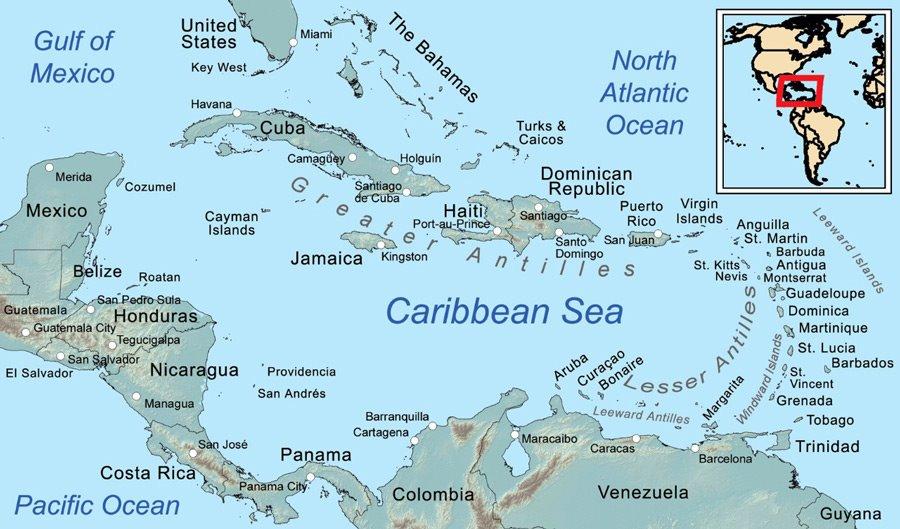 The Dominican Republic map
