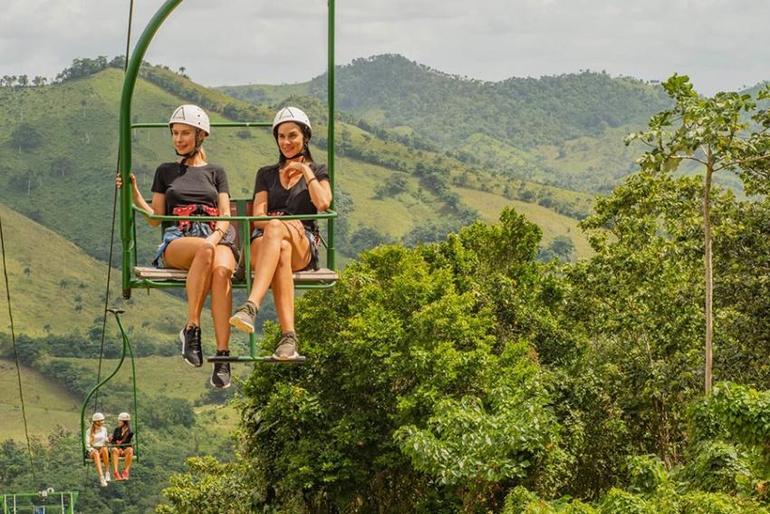 Chairlift in La Hacienda Park, Punta Cana, the Dominican Republic