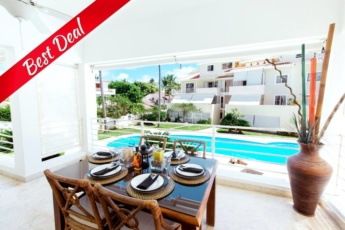 VIP Pool Deluxe Condo Beach Majestic with Terrace & Pool
