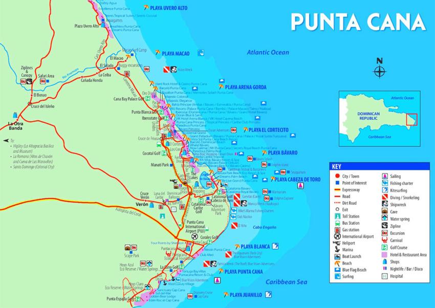 Punta Cana map